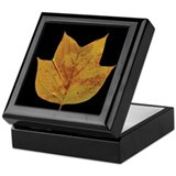 Fall Tulip Leaf Keepsake Box