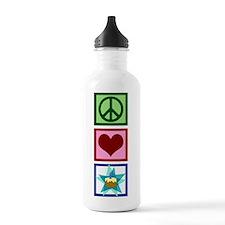 Peace Love Birthday Water Bottle