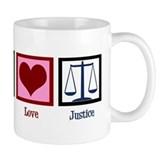 Peace Love Justice Small Mug