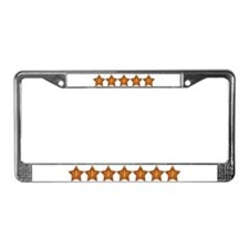 Gold Leaf Star License Plate Frame