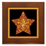 Gold Leaf Star Framed Tile