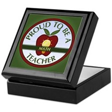 Math Teacher Keepsake Box