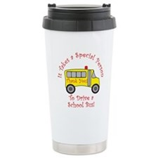 School Bus Driver Ceramic Travel Mug