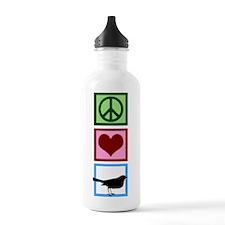 Peace Love Birds Water Bottle