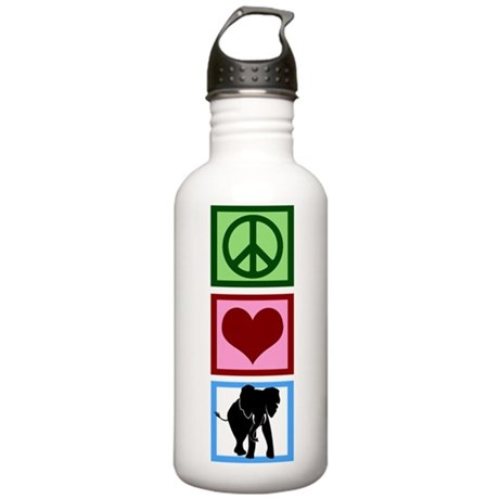 Peace Love Elephants Stainless Water Bottle 1.0L