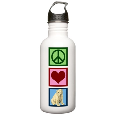 Peace Love Polar Bears Stainless Water Bottle 1.0L