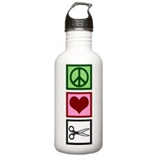 Peace Love Cut Water Bottle