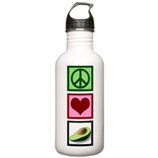Peace Love Avocado Water Bottle