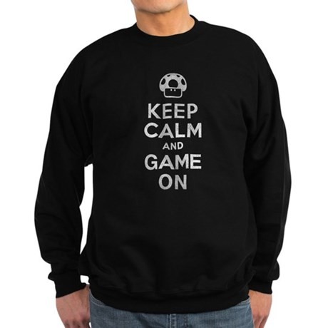 Keep Calm and Game On Dark Sweatshirt