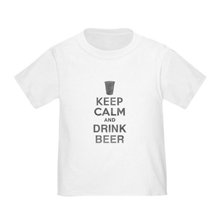 Keep Calm and Drink Beer Toddler T-Shirt