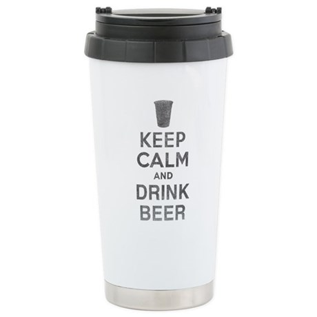 Keep Calm and Drink Beer Ceramic Travel Mug