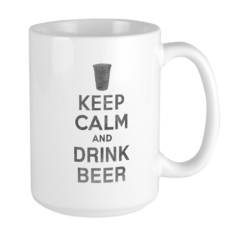Keep Calm and Drink Beer Large Mug