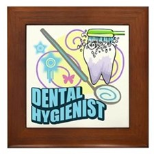 Dental Hygienist Framed Tile
