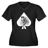 Wayne Disc Golf Women's Plus Size V-Neck Dark T-Sh
