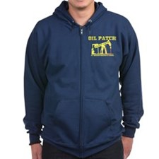 Oil Patch Pump Jack Zip Hoodie