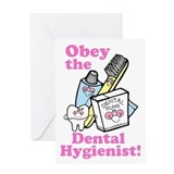 Funny Dentist Dental Hygienis Greeting Card