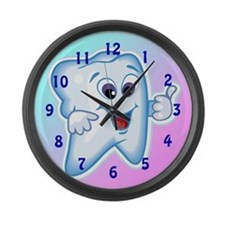Funny Dentist Dental Hygienis Large Wall Clock
