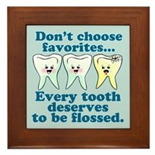 Funny Dentist Dental Hygienis Framed Tile