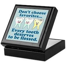 Funny Dentist Dental Hygienis Keepsake Box