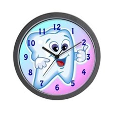 Funny Dentist Dental Hygienis Wall Clock