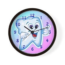 Funny Dentist Dental Hygienis Wall Clock