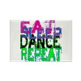 Eat Sleep Dance Repeat Rectangle Magnet (100 pack)