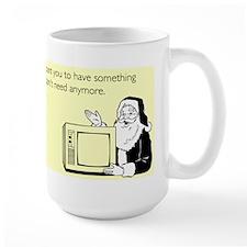 Used Christmas Gift Large Mug