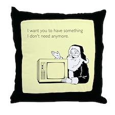 Used Christmas Gift Throw Pillow