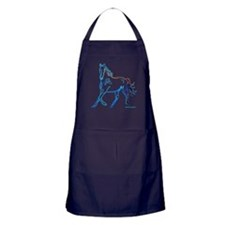 Horse of Many Colors Apron (dark)