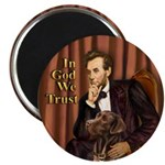 Lincoln / Chocolate Lab Magnet