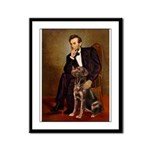 Lincoln / Chocolate Lab Framed Panel Print