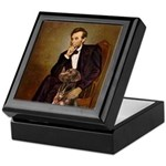 Lincoln / Chocolate Lab Keepsake Box