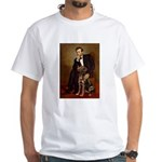 Lincoln / Chocolate Lab White T-Shirt