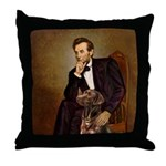 Lincoln / Chocolate Lab Throw Pillow