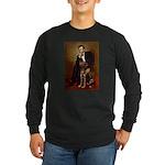 Lincoln / Chocolate Lab Long Sleeve Dark T-Shirt