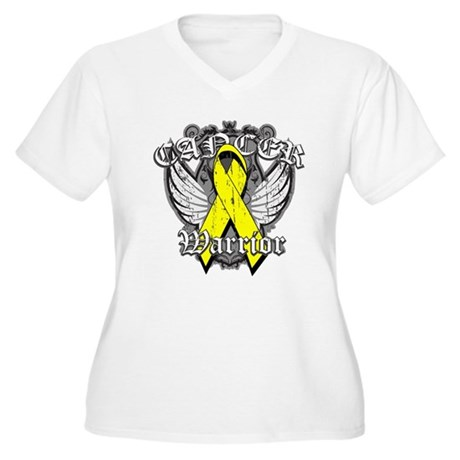 Sarcoma Cancer Warrior Women's Plus Size V-Neck T-