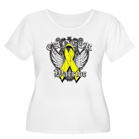 Sarcoma Cancer Warrior Women's Plus Size Scoop Nec