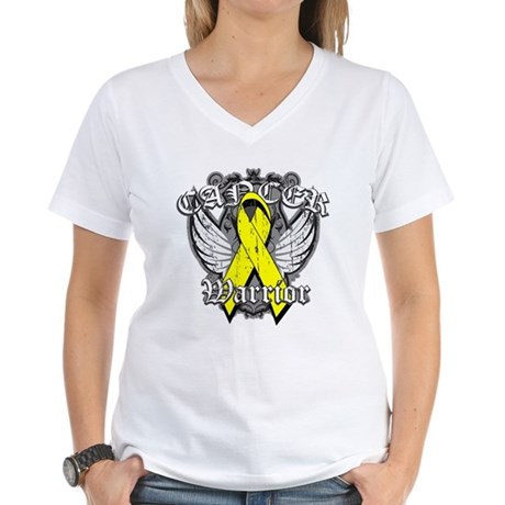 Sarcoma Cancer Warrior Women's V-Neck T-Shirt