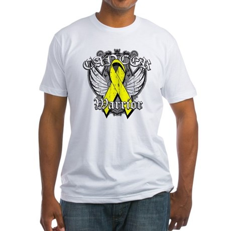 Sarcoma Cancer Warrior Fitted T-Shirt