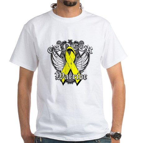 Sarcoma Cancer Warrior White T-Shirt