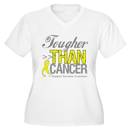 Tougher Than Cancer Women's Plus Size V-Neck T-Shi