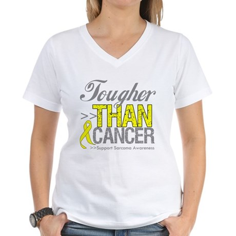 Tougher Than Cancer Women's V-Neck T-Shirt