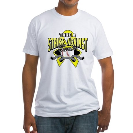 Take a Strike Sarcoma Cancer Fitted T-Shirt