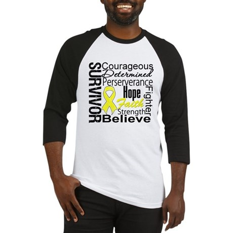 Sarcoma Survivor Collage Baseball Jersey