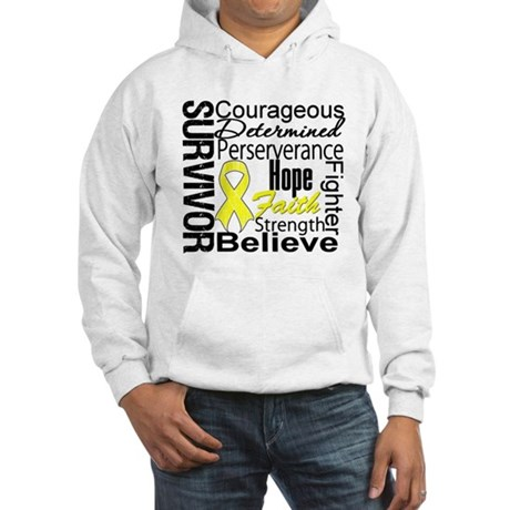 Sarcoma Survivor Collage Hooded Sweatshirt