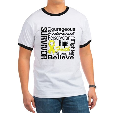Sarcoma Survivor Collage Ringer T