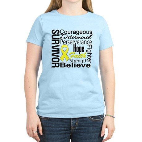 Sarcoma Survivor Collage Women's Light T-Shirt