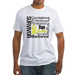 Sarcoma Survivor Collage Fitted T-Shirt