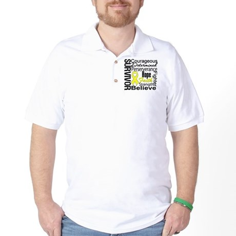 Sarcoma Survivor Collage Golf Shirt