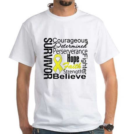 Sarcoma Survivor Collage White T-Shirt